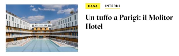 Piscine Molitor Hotel Parigi