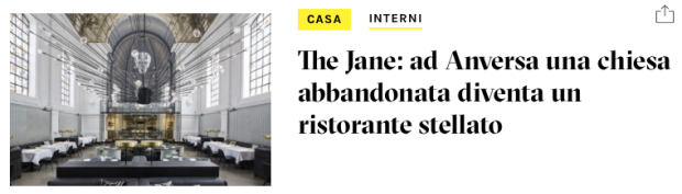 The Jane ristorante Anversa