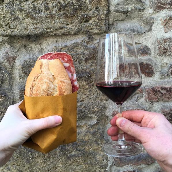 Montalcino panino e vino