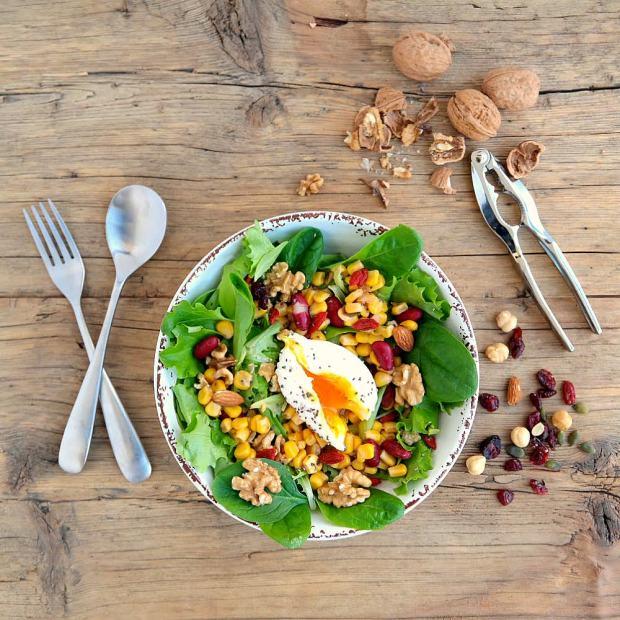 salad egg pochet